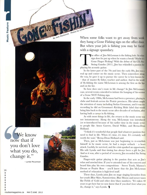 Gone NOT Fishin' article copy