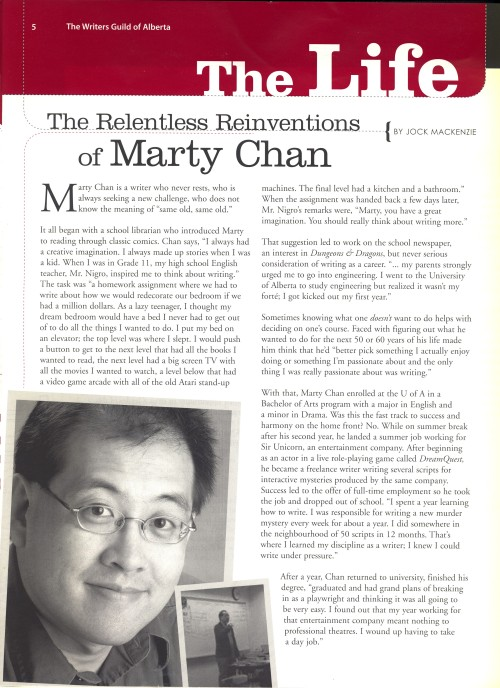 Marty Chan article page 1