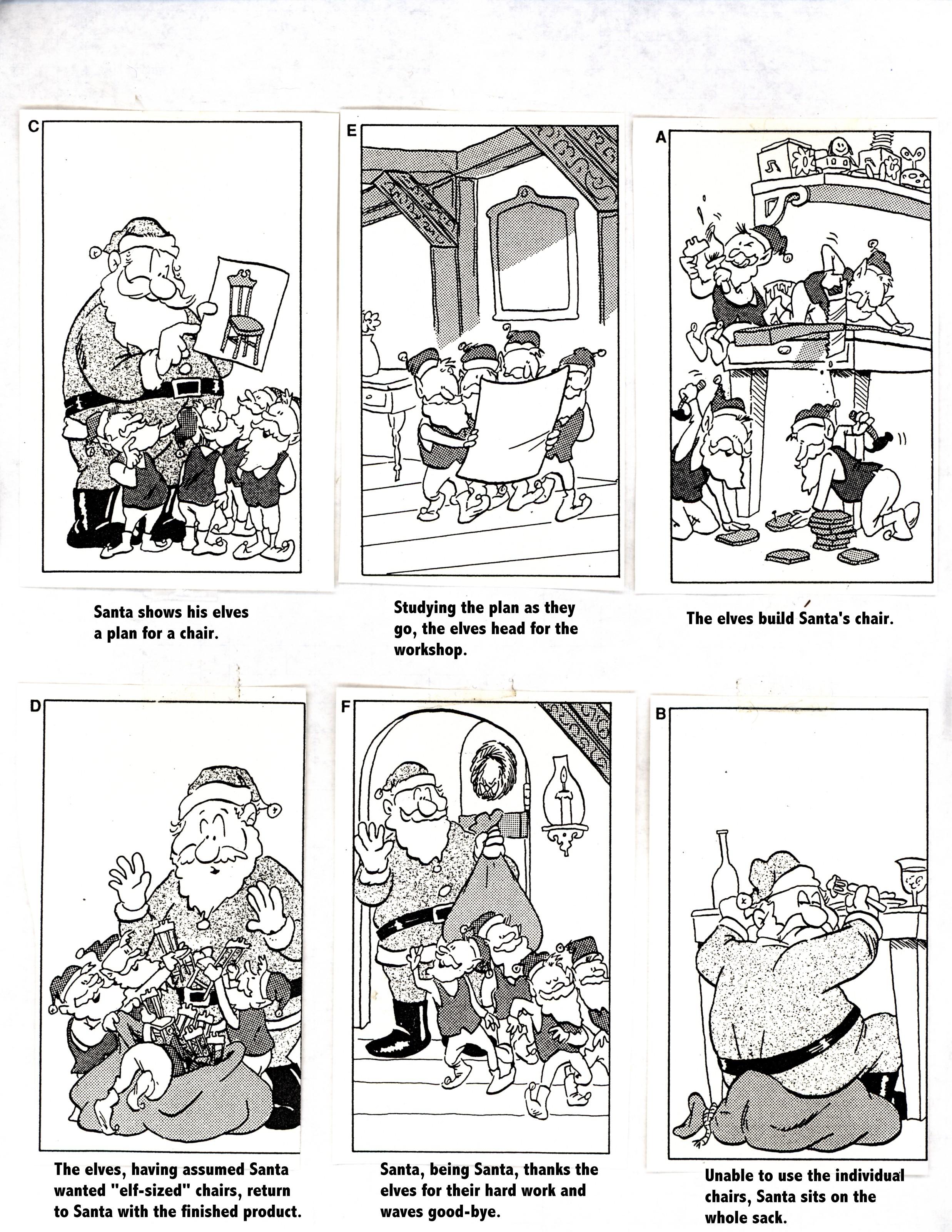 Christmas u2013 Cartoon Sequence u2013 Answer Key : TEACHER MAN ...