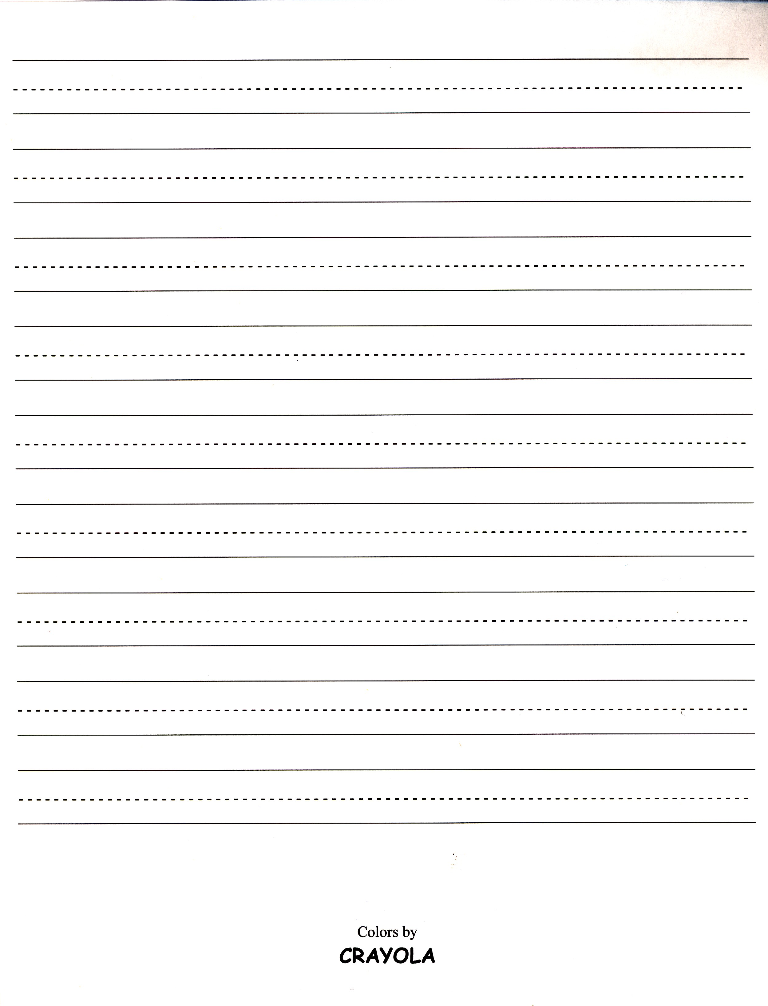 handwriting paper for first grade