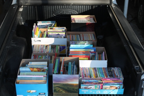 Truck load of books