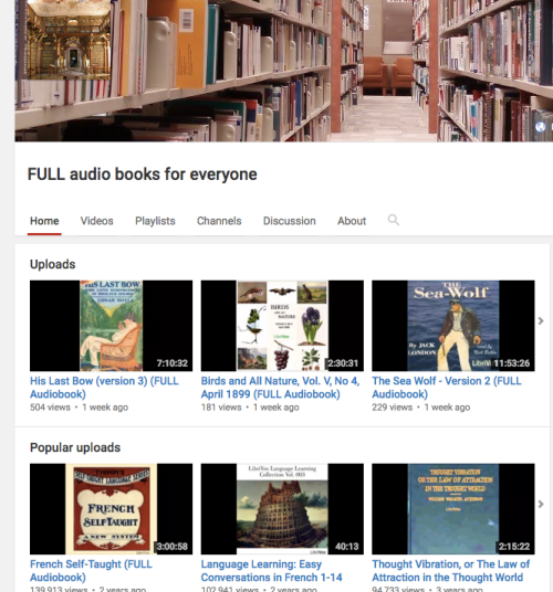 YouTube books online